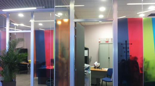 Film couleur transparent - Bureaux